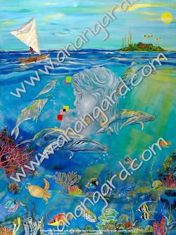 Fille de l'océan (91,5x122)