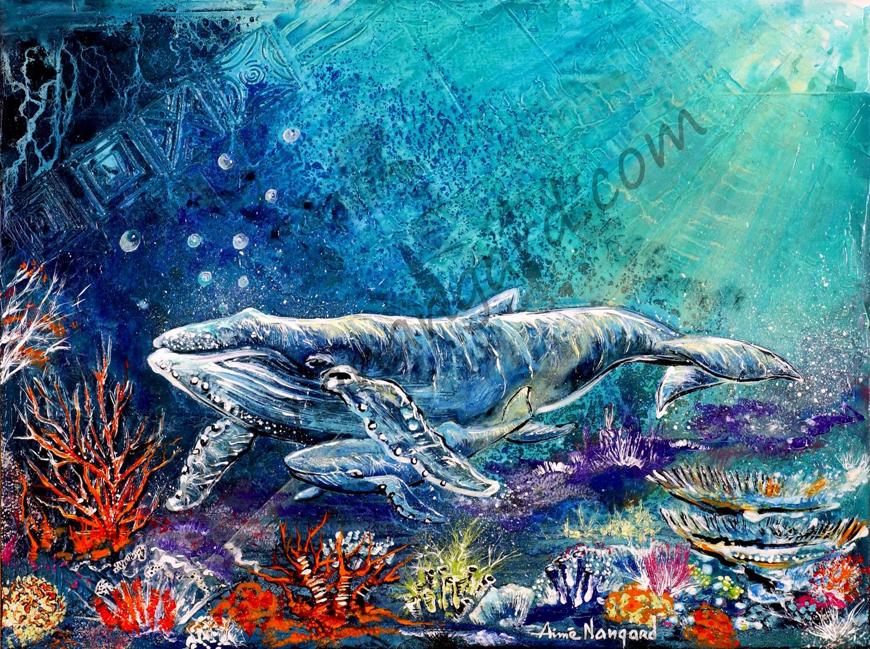 La baleine et son baleineau