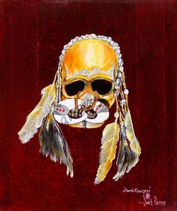 Crâne d ancêtre (50x60)