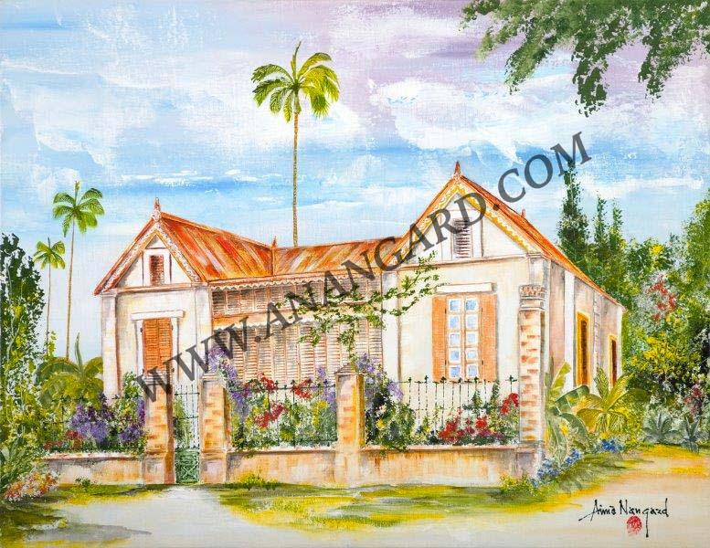 Maison caledonienne 2    50 X 65