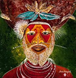 Le guerrier de Tari PNG