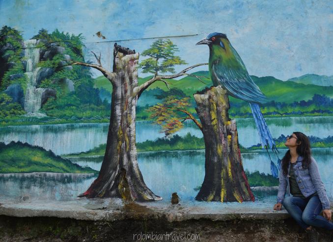 Mural en el Mirador Colina Iluminada (Quindío)