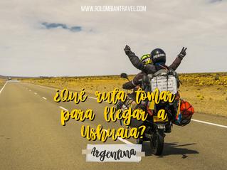 ¿Qué ruta tomar para llegar a Ushuaia en moto?