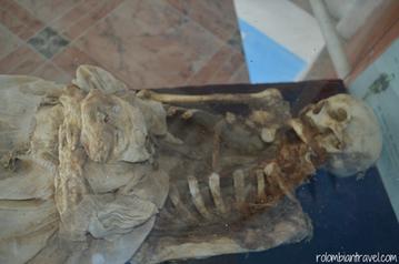 Mausoleo de momias en San Bernardo