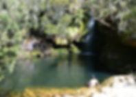 Salto de la Nutria en Páramo de Guacheneque, nacimiento del río Bogotá