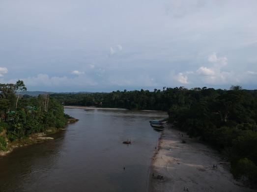 Río Napo en Puerto Misahuallí, Ecuador