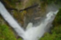 Pailón del Diablo en Baños de Agua Santa, Ecuador