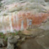 Pictogramas o pinturas rupestres en Cerro Azul, San José del Guaviare