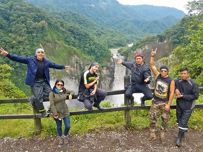 Cascada San Rafael en Ecuador