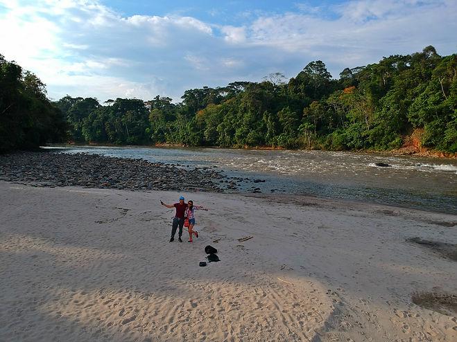 Río Misahuallí en Puerto Misahuallí, Ecuador