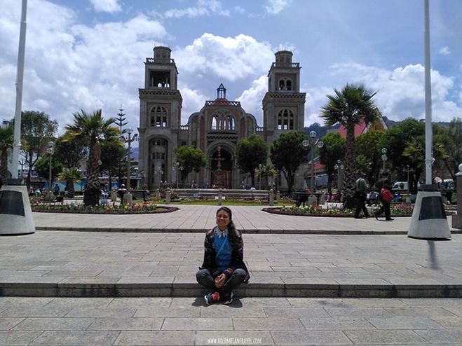Plaza de armas de Huaraz, Perú