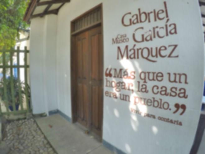 Entrada de la Casa Museo Gabriel Garía Márquez en Aracataca