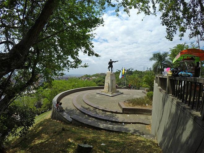 Mirador Sebastián de Belalcázar en Santiago de Cali, Valle del Cauca, Colombia
