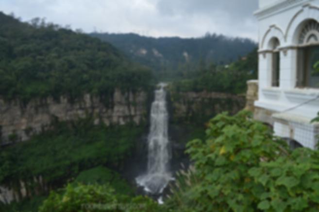 vista del salto del tequendama desde la casa museo tequendama