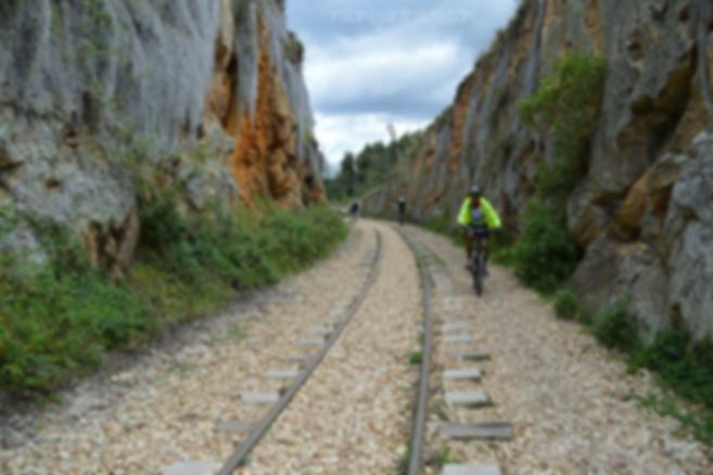 ciclismo en vía ferrea rocas de suesca