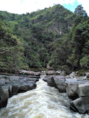 Estrecho del río Magdalena en San Agustín, Huila