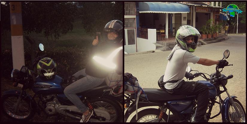Viajar en moto Boxer 100