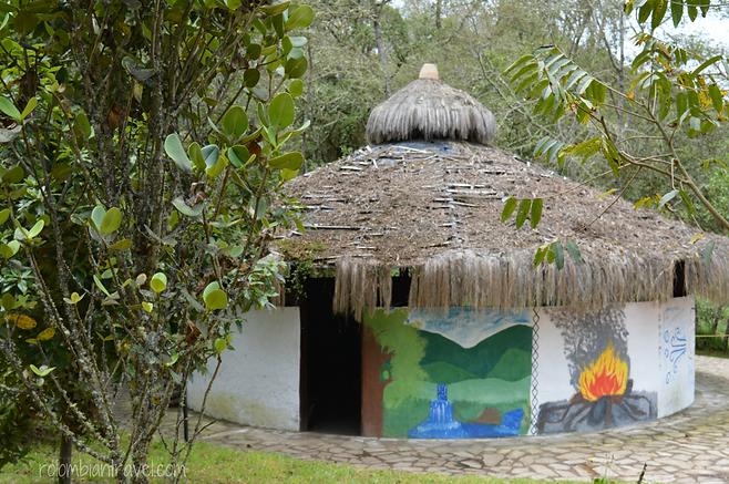 chunzua o choza en laguna de guatavita