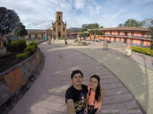 Plaza principal de Ráquira, Boyacá