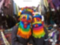 Diablo Huma en Plaza de los Ponchos de Otavalo, Ecuador