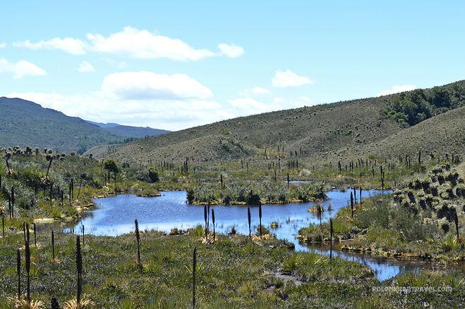 Laguna El Valle en el Páramo de Guacheneque, nacimiento del río Bogotá
