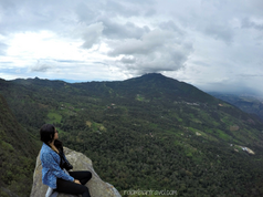 Vista desde el Pico del Águila en el Cerro de Quininí (Cundinamarca)