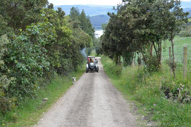 camino a la laguna de guatavita