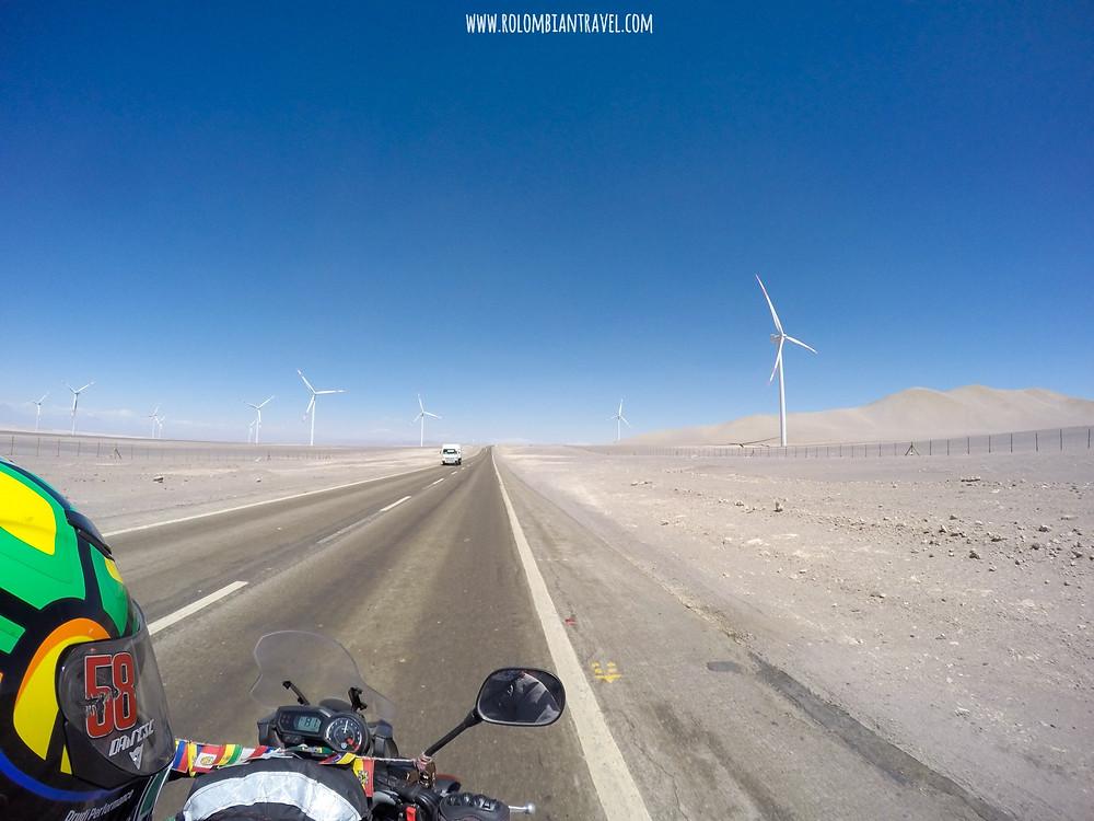 Ruta hacia San Pedro de Atacama, norte de Chile