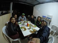 Amigos que nos recibieron en Puyo, Ecuador