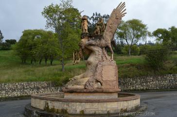 Monumento a la raza U'wa en Güicán(Boyacá)