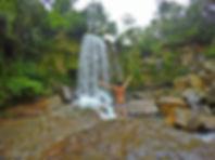 Cascada Caño Lajón en Maravillas del Güejar, Lejanías (Meta)