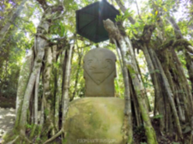 Bosque de las Estatuas en Parque Arqueológico de San Agustín, Huila