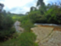 Inicio caída Caño Lajón en río Güejar, Lejanías (Meta)