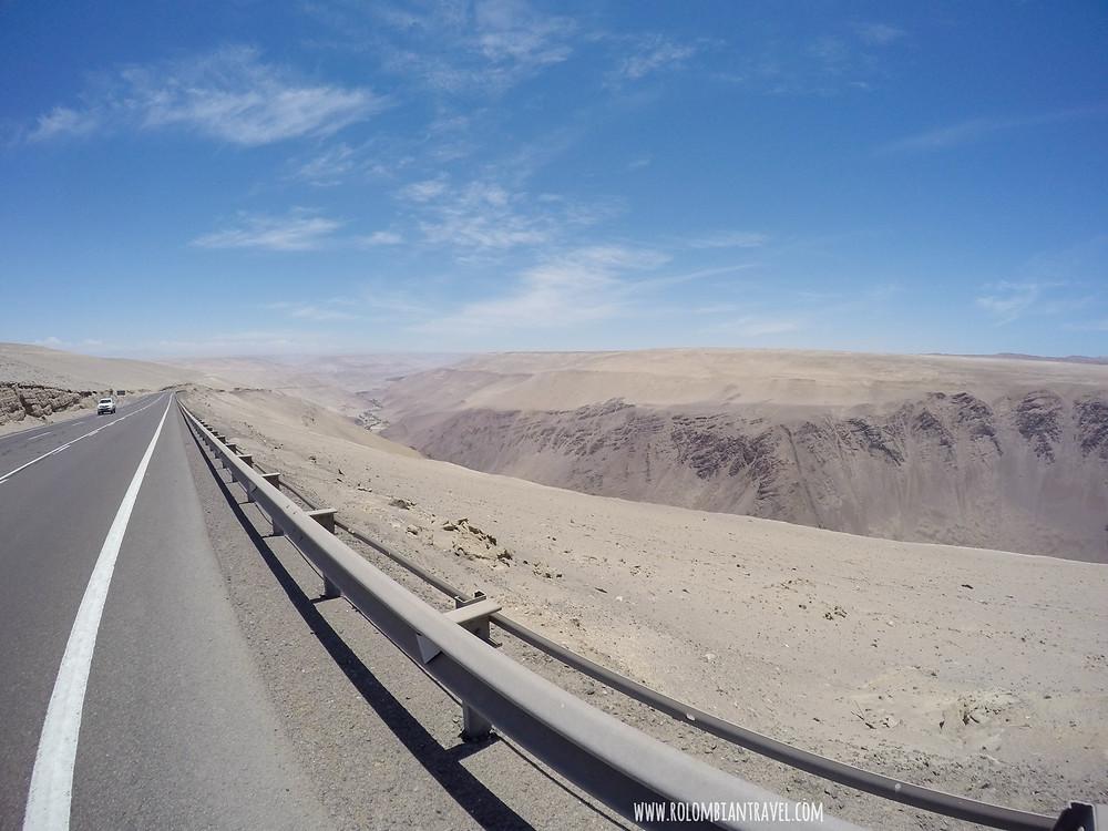 Carretera en el norte de Chile