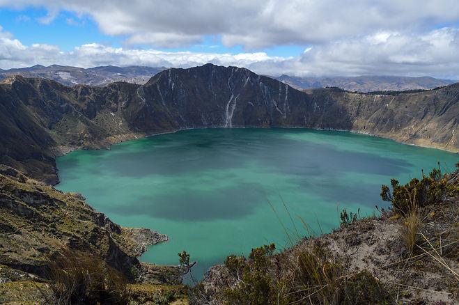Laguna de Quilotoa en Ecuador