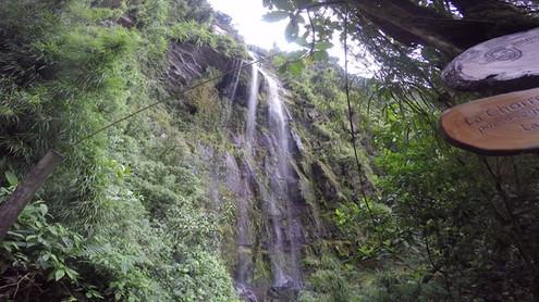Llegada a Cascada La Chorrera
