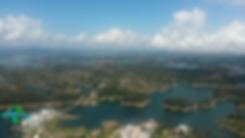 Panorámicca del Embalse de Guatapé, Antioquia, Colombia
