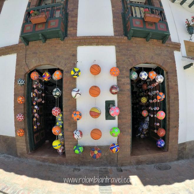 Balones hechos en Monguí, Boyacá
