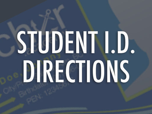 Student I.D. Directions
