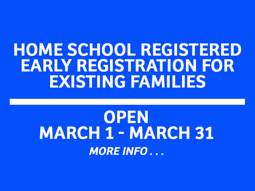 Home School Registered Families