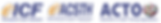 icf logo, acsth logo, acto logo