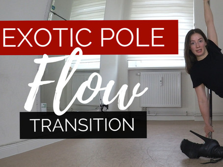 Exotic flow pole dance tutorial for beginners! Exotic transition to the floor (slide down)