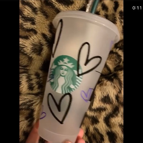 Customized Starbucks tumblers