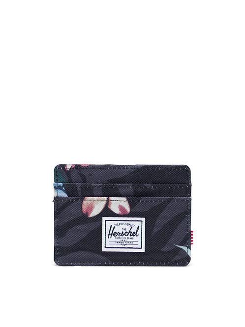 Summer Floral Black - Charlie Wallet
