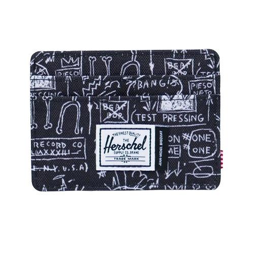 """Herschel Charlie Wallet """"Basquiat"""" (Black/White)"""