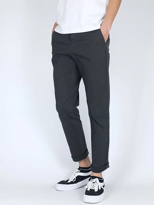 Slim Fit Chino in Dark Grey 31""