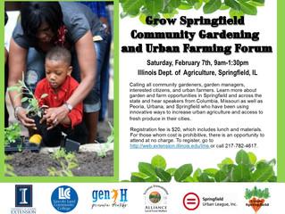 Grow Springfield Community Gardening and Urban Farming Workshop