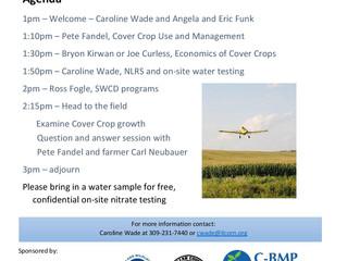 Cover Crop Field Day    November 5, 1pm-3pm