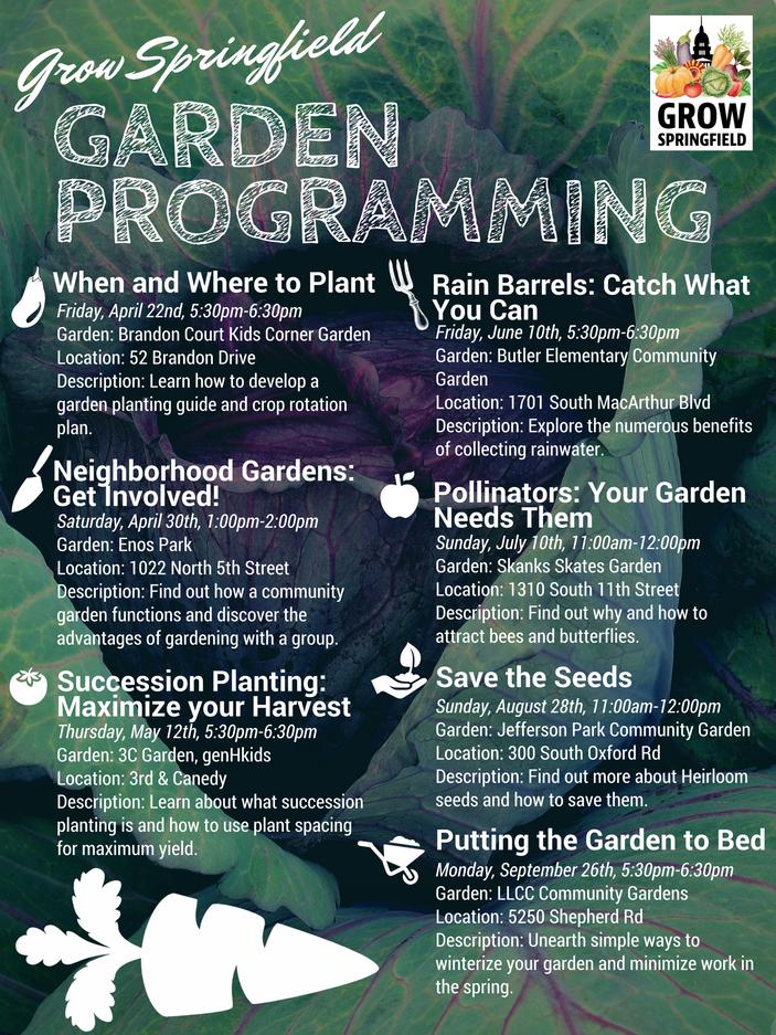 Grow Springfield Garden Programming