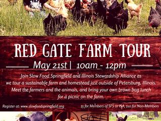 Slow Food Springfield and Illinois Stewardship Alliance Present: Red Gate Farm Tour